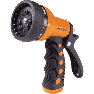 Dramm Heavy-Duty Metal 9-Pattern Nozzle, Orange